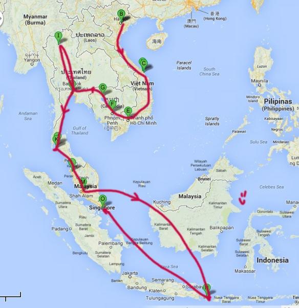 mochilao asia mapa