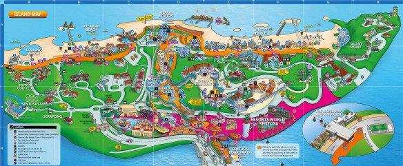 mapa sentosa menor cingapura singapura